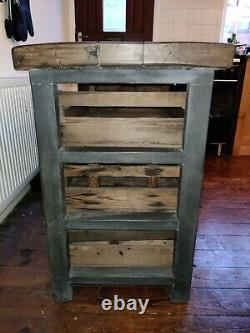 Kitchen island Solid wood Vintage Hand made Collection only Leeds (LS26)