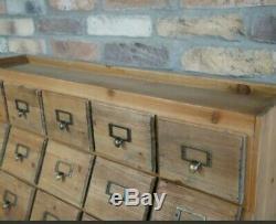 Large Apothecary Cabinet Haberdashery Storage Unit Chest Of Drawers