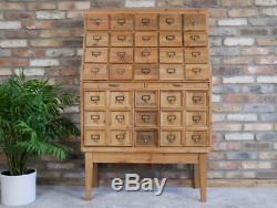 Large Apothecary Cabinet Haberdashery Storage Unit Chest of Drawers / Vintage
