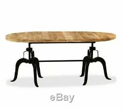 Large Industrial Dining Table Vintage Retro Style Kitchen Room Furniture Rustic