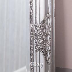 Large Silver Wall Floor Ornate Mirror Bedroom Hall Living Room 100 x 80cm