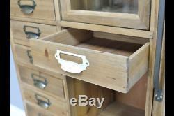Large Vintage Industrial Retro style cabinet apothecary style cabinet sideboard