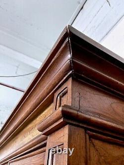 Large Vintage Oak Dresser Glazed Display Cabinet Cupboard Kitchen Dining Bedroom