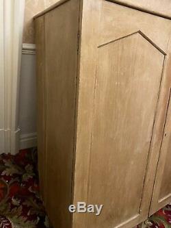 Large Vintage Pine Cupboard Kitchen Larder Housekeepers Linen Press Cabinet