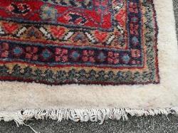 Large pers ian vintage rug carpet orien tal wool, royal mir-red 207 x 261 cm