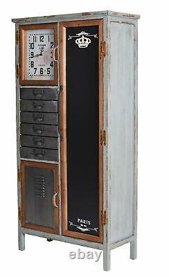 Loft Kommode Fabrik Schrank Regalschrank Industrie Möbel Schubladenschrank Retro