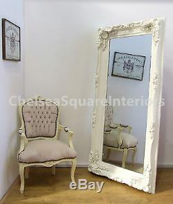 Louis X Large Full Length Wall Leaner Mirror Cream- 2'11 x 5'9 (35x 69)