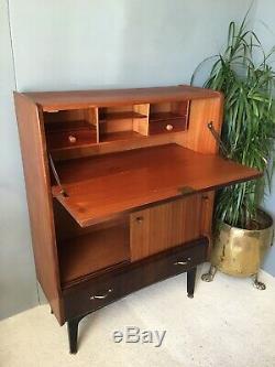 Lovely Danish Style Jentique Bureau Drinks Cabinet Computer Desk Cupboard Drawer