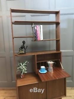 MID Century Retro Room Divider Bookcase Cabinet Storage