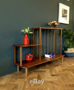 Mid Century Retro Vintage Danish Style Teak Shelving Display Unit