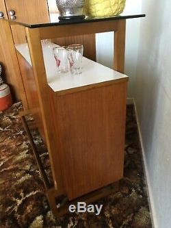 Mid Century Retro Vintage Teak Cocktail Bar Cabinet Unit