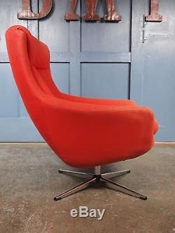 Mid Century Vintage 1960s 70s Swivel Egg Chair Parker Knoll G Plan Danish Retro