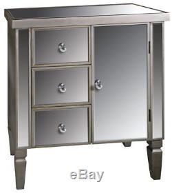 Mirrored Sideboard Cabinet Furniture Venetian Vintage 3 Drawers Cupboard Storage