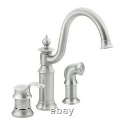 Moen S711CSL Waterhill One Handle High Arc Kitchen Faucet Classic Stainless