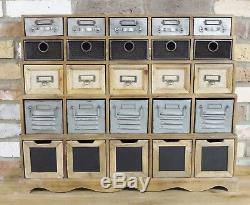 Multi colour Vintage Industrial Cabinet 25 Drawers Retro style Storage Chest