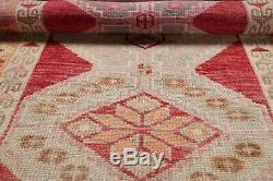 NEW Vegetable Dye MUTED Oushak Turkish Oriental Runner Rug Distressed Wool 3x12