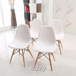New Rectangle White Dining table and 4 Chairs Retro DSW Eiffel Style Furniture