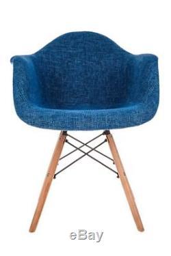 New Tub Eiffel Dining Armchair Patchwork Chair Retro Vintage Scandinavian Modern