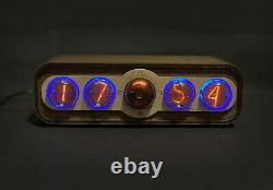 Nixie Tube Clock Pulsar IN-4 + Decatron USB RGB