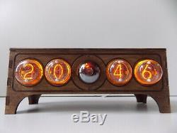 Nixie clock tube IN4 DECATRON table desk retro old vintage clock for bedroom