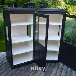 One Of A Pair Of Vintage Display Cabinets, Shop Display Cabinets, Kitchen Larder