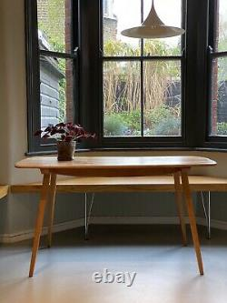 Original 1960s Ercol Elm Dining Table Midcentury Vintage Retro Beautiful Wood