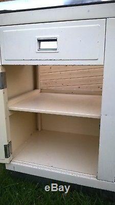 Original Vintage 1950's Metal Millersdale Kitchen Unit