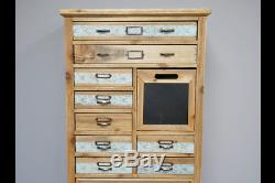 Patterned Vintage Retro Wooden Tall Chest Drawers Storage Cabinet (dx3552)