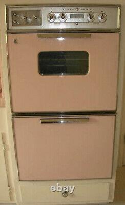 Pink Vintage Retro Kitchen Appliances Vent, Stove Top, Double Oven, Sink
