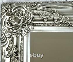 Portland Full Length Ornate Large Vintage Wall Leaner Silver Mirror 72cm x 160cm