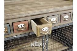 Quirky Tall Wood Multi Drawer Cabinet / Chest Vintage Look / Rustic Storage
