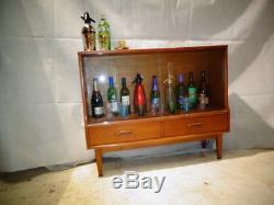 RETRO 50s 60s TEAK COCKTAIL CABINET VINTAGE DRINKS BAR HOME BAR ATOMIC ERA
