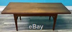 RETRO MID CENTURY TEAK 60s DANISH KAI KRISTIANSEN EXTENDING ELEVATOR TABLE