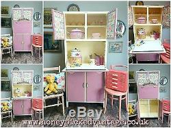 RETRO PINK kitchen larder CUPBOARD CABINET PANTRY CABINET KITCHENETTE VINTAGE