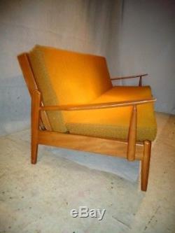 RETRO SCANDART SOFA BED 50s 60s VINTAGE SETTEE MID CENTURY MODERN CHIC