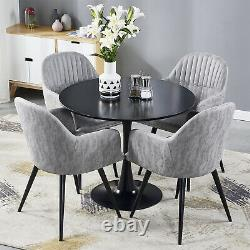 Retro 2 Dining Chairs Grey Sofa Armchair Distressed Faux Leather Living Room