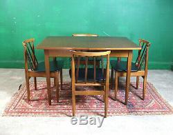 Retro EON Dining Table & 4 Chairs, Mid Century, Teak, Vintage, Extending Kitchen