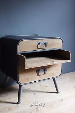 Retro Industrial Cabinet with drawers Vintage Shabby Chic Metal Wood