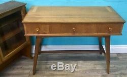 Retro MID Century Rare Vintage Oak And Beech Everest Bookcase Cabinet