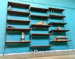 Retro MID Century Vintage Teak Swedish Nisse Strinning Shelving System
