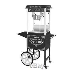 Retro Popcorn Machine Cinema Style Commercial Popcorn Maker + Cart 1600W 5Kg/H