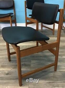 Retro Set Four White And Newton Dining Chairs MID Century Vintage