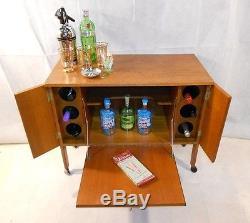 Retro Teak Bar Vintage Cocktail Cabinet 60s Bookcase Storage Unit Teak Chic