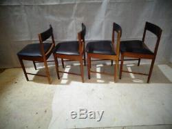 Retro Teak Mcintosh Set Of Dining Chairs Vintage Teak Kitchen Chairs MID Century