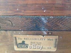 Retro Vintage Antique Rare Ercol Designer Solid Wood Sideboard Cabinet Cupboard