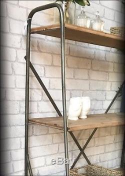 Retro Vintage Industrial Style Iron Shelf Storage Cabinet Metal Wooden Metal