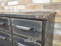 Retro Vintage Industrial sideboard Black multi Retro style Storage Chest console