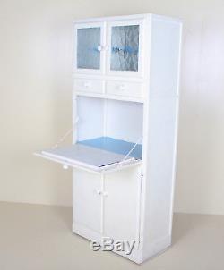 Retro Vintage Kitchen Cabinet Kitchenette Larder White