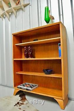 Retro Vintage Mid Century Tall Bookcase Storage Shelves