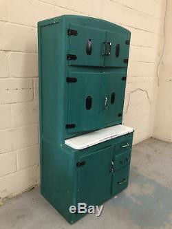 Retro Vintage Turquoise Kitchen Larder Unit